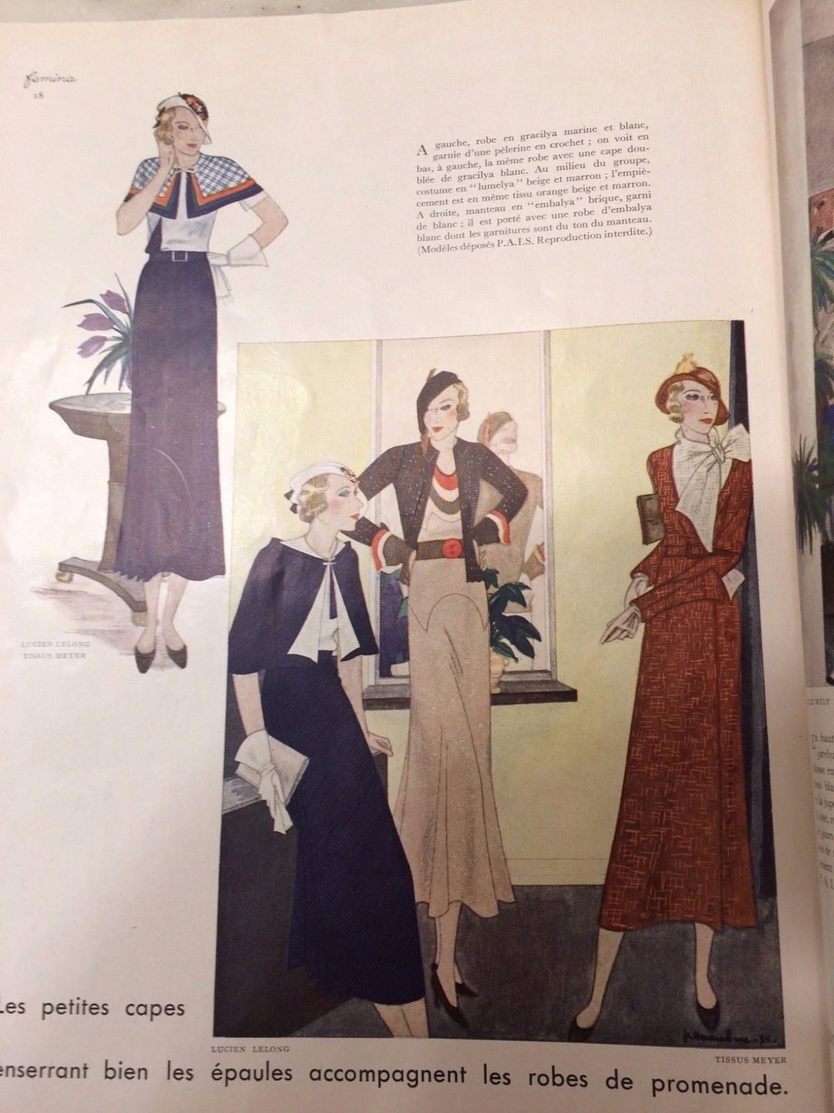 Day Dresses by Lucien Lelong in 1932