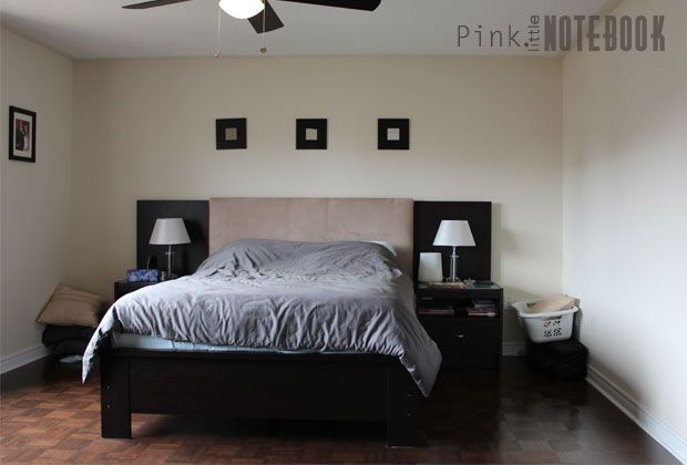 Before & After A Master Bedroom Makeover is part of bedroom Makeover Pink - A before and after master bedroom makeover Before After Before the holidays, my brother and sisterinlaw asked me if I could help them transform their bland ro…