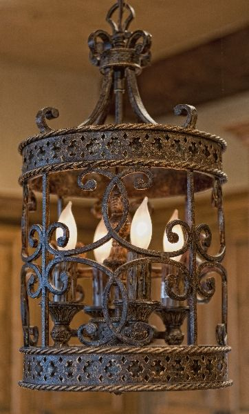 Such A Beautiful Iron Ornate Tuscan Pendant Light Fixture