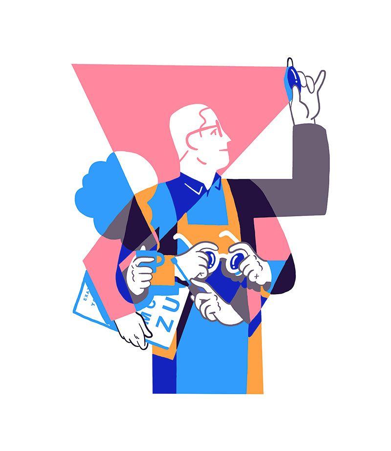 Milan Lunetier Illustrateur Aquarelle Kim Roselier Graphic