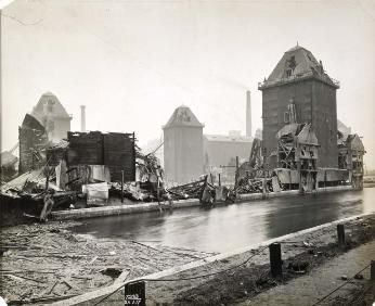 The Millennium Mills following the explosion