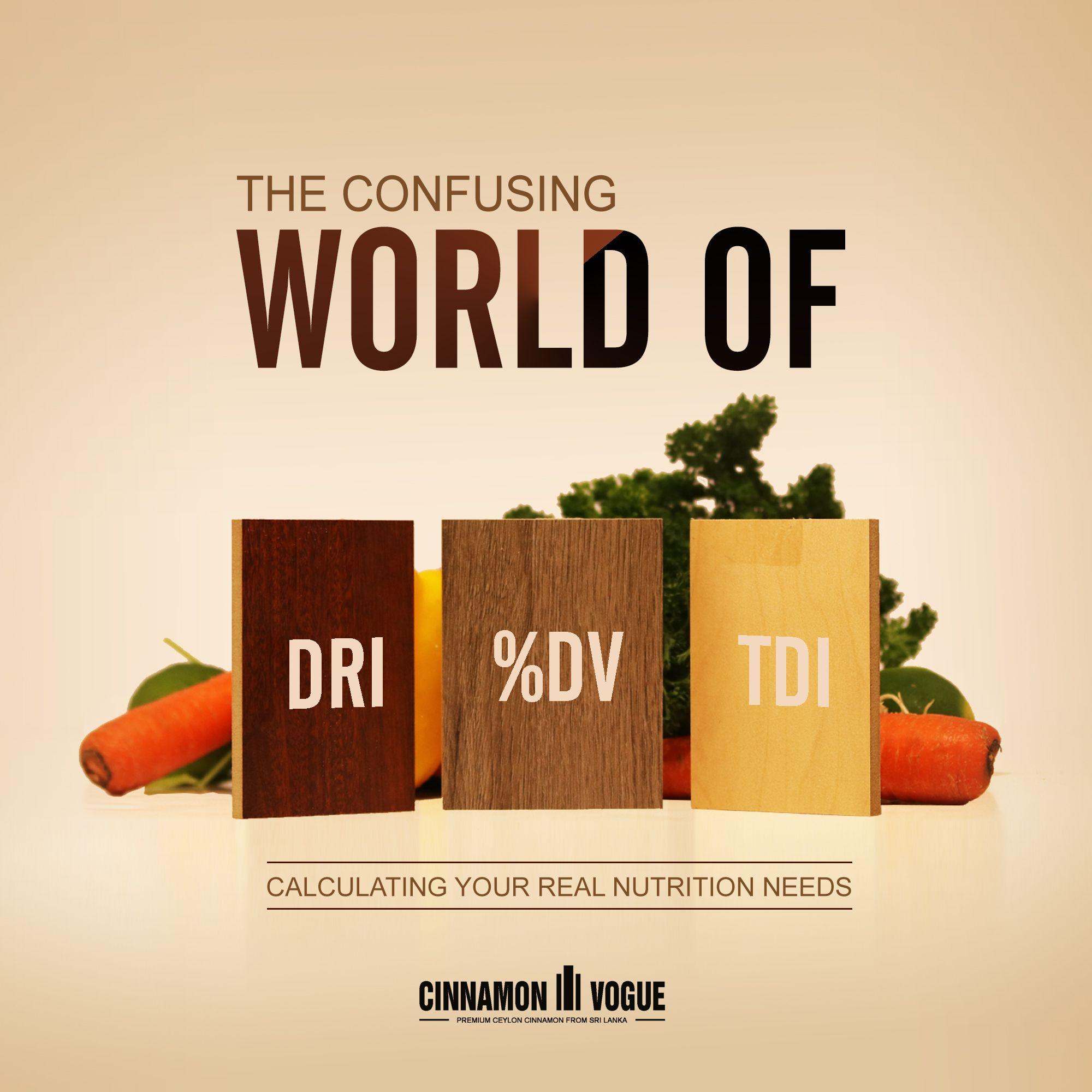 The Confusing World Of Dri Dv And Tdi Diet Plan Menu Nutrition Facts Label Keto Calculator