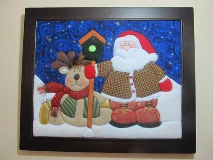Patchwork sin aguja navideños en cuadros - Medellín - Objetos de decoración