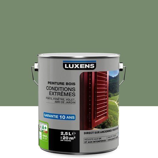 Peinture Bois Extérieur Conditions Extrêmes Luxens Vert