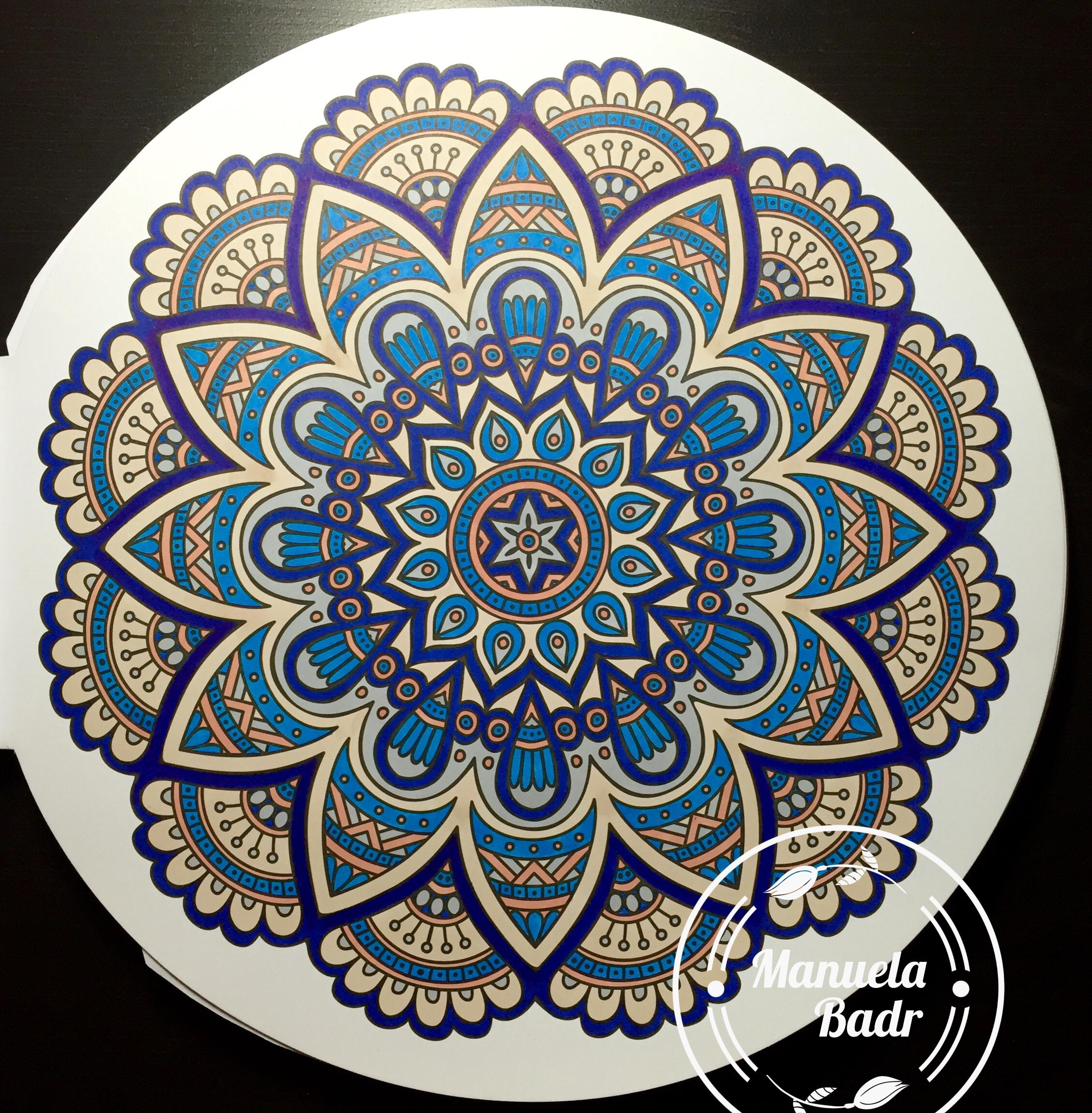 Uit 100 Creaties mandala | Gekleurd met Promarker | 16-04-2016