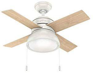 "Hunter Fan Company 59385 Hunter 36"" Loki Fresh White LED ..."