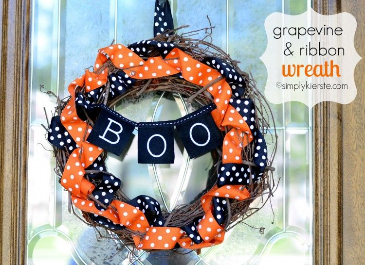 Photo of grapevine & ribbon wreath | simplykierste.com