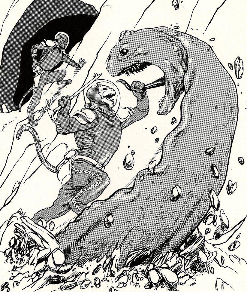 'Aslan Attack' by caesar120 on DeviantArt [I really really like Caesar120's Traveller art.]