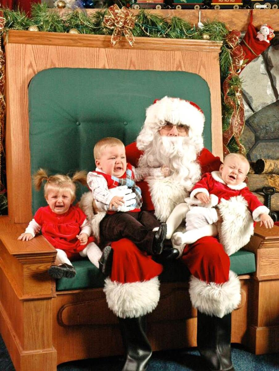 creepy santa - Santa Claus With Kids