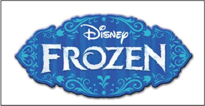 Disney FROZEN LOGO CAKE TOPPER 1 logo icing sugar