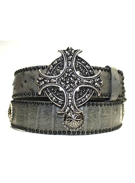 Hoss Couture Exotic Belt Gator/Stingray Belt 008COG #hosscouture #fashionbelts