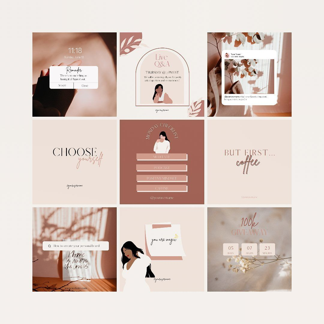 """Indigo Digitals on Instagram: """"Happy Monday! Indigo Digitals is now live on Etsy! You will find various templates made in Canva that will help you grow and engage with…"""""""