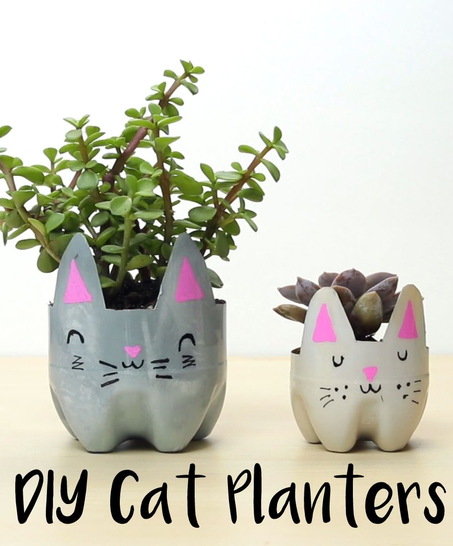 How To Make Cat Planters Out Of Old Plastic Bottles Diyplanters