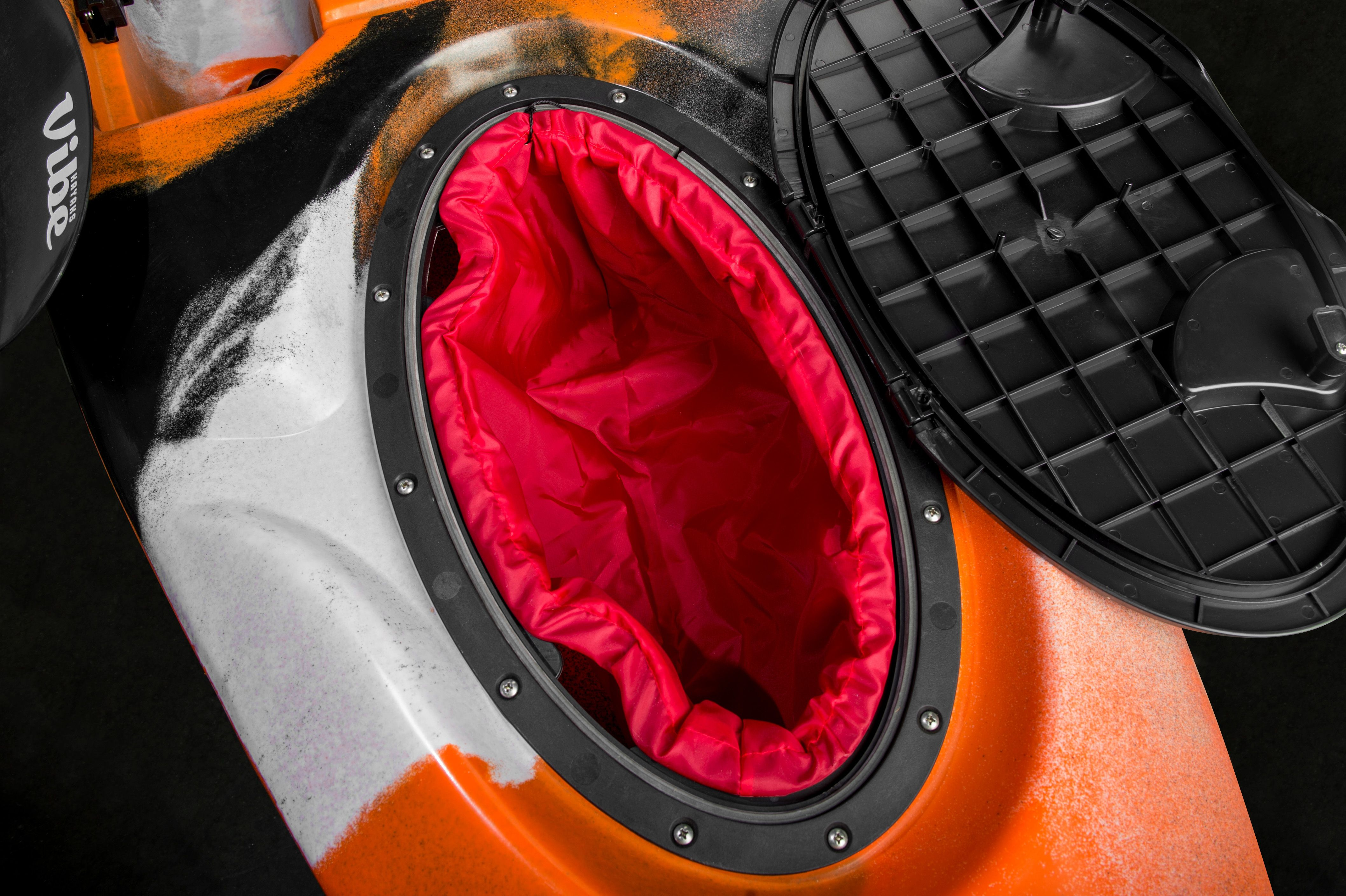 Gain Hull Access And Interior Storage With The 20 Oval Kayak Hatch Perfect For Stowing Dry Bags And Larger Gear Inside Th Angler Kayak Kayaking Fish In A Bag