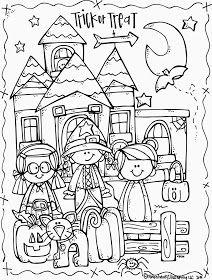 MelonHeadz: Lucy Doris Halloween coloring page freebie! | Coloring ...
