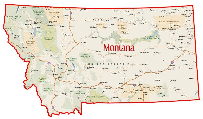 Map Of Montana Need A State County Or City Map Showing Your - Montana in us map