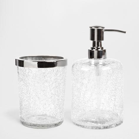 black crackle bathroom accessories. CRACKLE GLASS BATHROOM SET  Accessories Bathroom Zara Home Germany