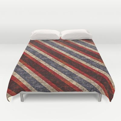Stone Stripes Duvet Cover by Peter Gross - $99.00