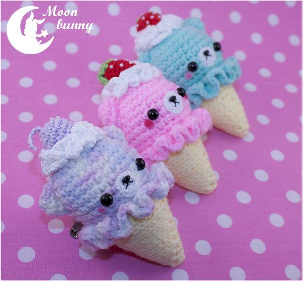 Crochet ice cream baby bear Charm By Moonbunny by ...