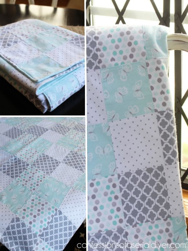 How To Make A Baby Quilt From Receiving Blankets Diy