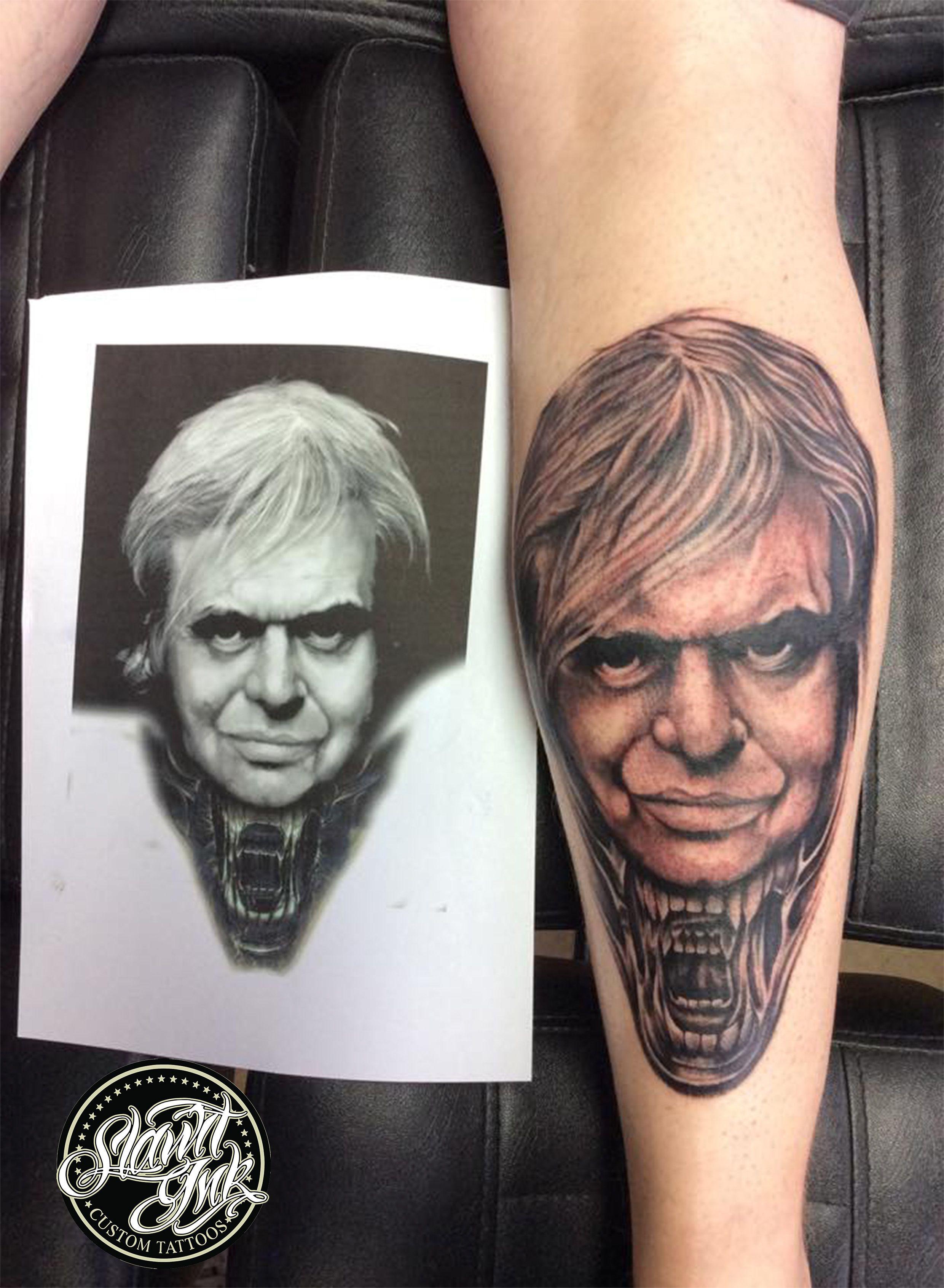 Hr giger tattoo designs - Hr Giger Portrait