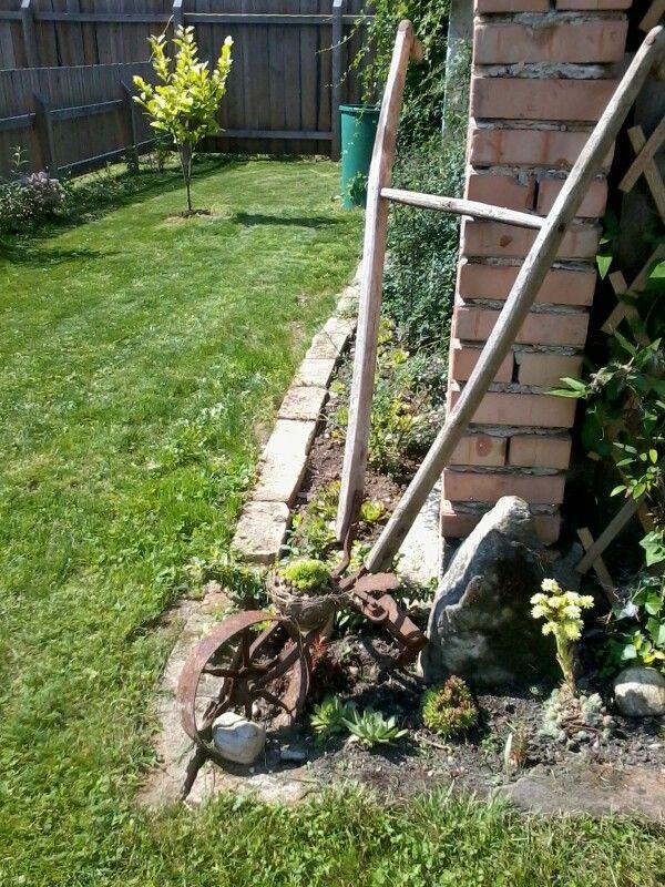 Fantastisch Alte Gegenstände Dekorieren Den Garten