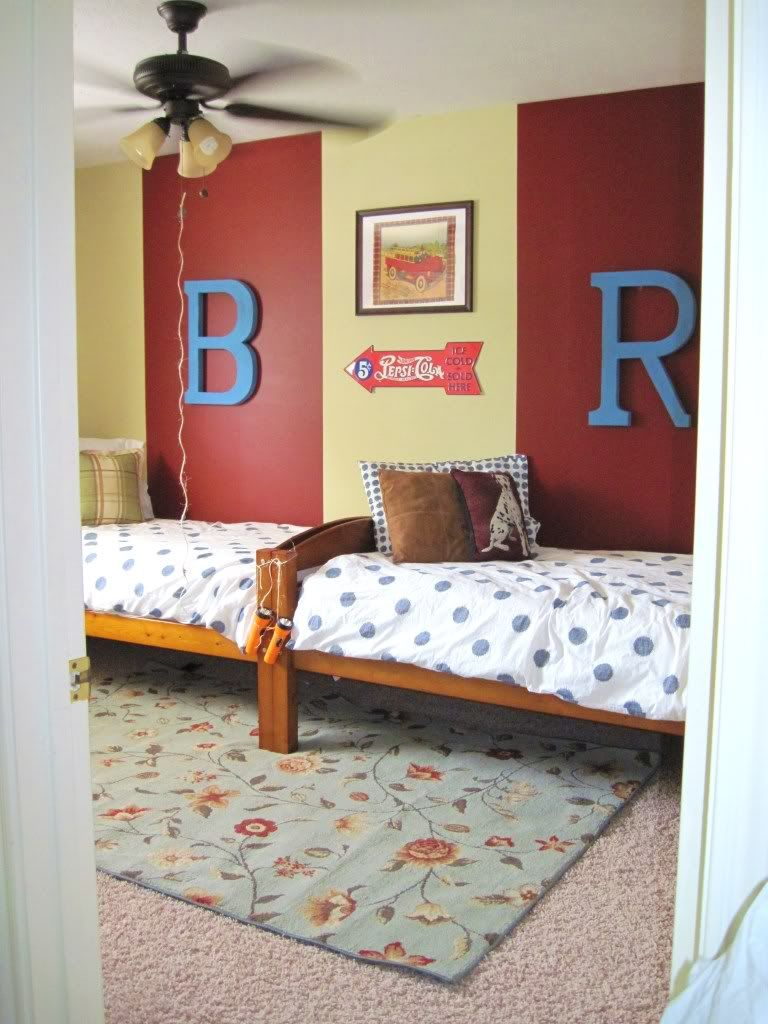 Shared Boys Geometrical Bedroom: And Then There Was Home: Shared Bedroom For Boys