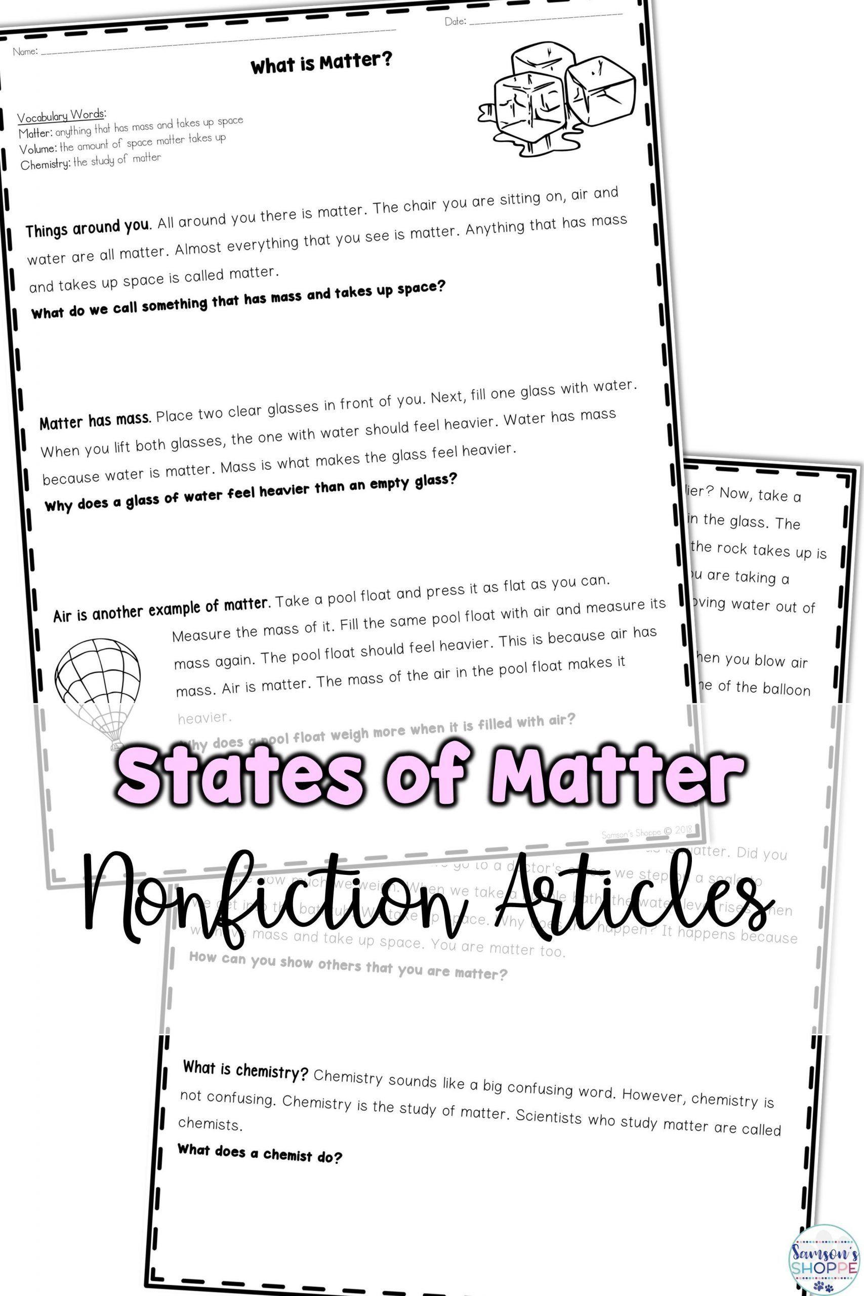 Scientific Method Steps Worksheet 50 Scientific Method Steps Worksheet In 2020 With Images Pr In 2020 Matter Worksheets States Of Matter Worksheet Reading Worksheets