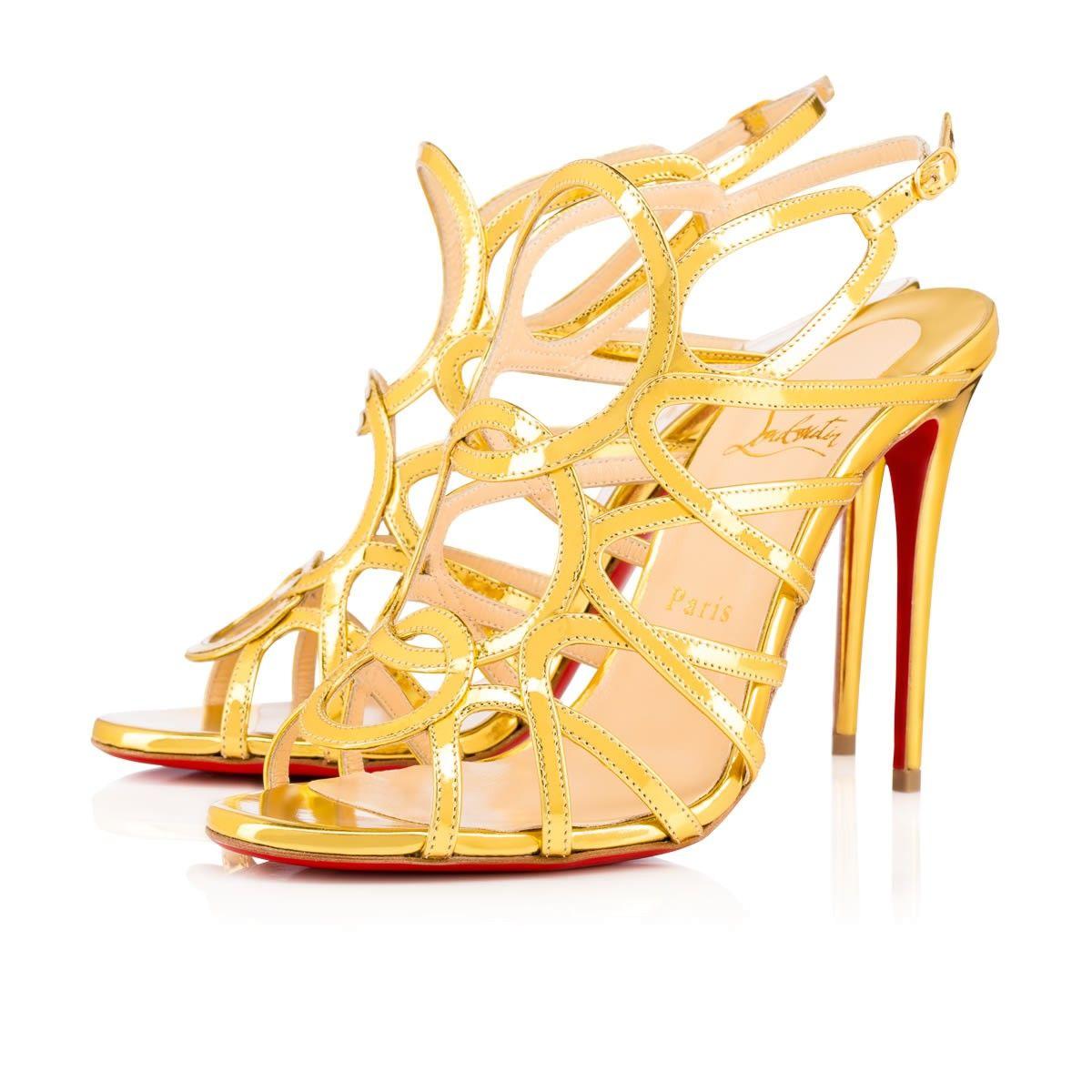 ce1763deef42 CHRISTIAN LOUBOUTIN Circonvolulu 100 Gold Leather - Women Shoes - Christian  Louboutin.  christianlouboutin  shoes