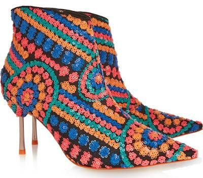 Shoe of the Day | Sophia Webster Coco Sequined Boots