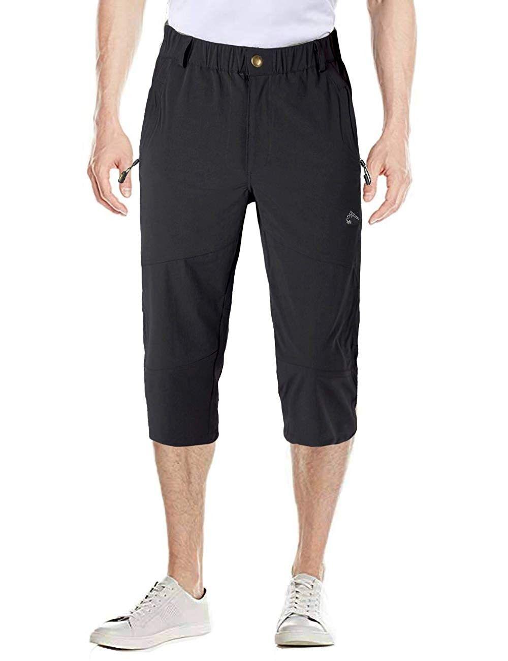 Men S Capri Pants Elastic Knee Length Shorts 3 4 Shorts Quick Dry Multi Pockets Cargo Capri Shorts Black Ca18nw0taam Size 30 Mens Capri Pants Knee Length Shorts Mens Outdoor Clothing [ 1300 x 1000 Pixel ]