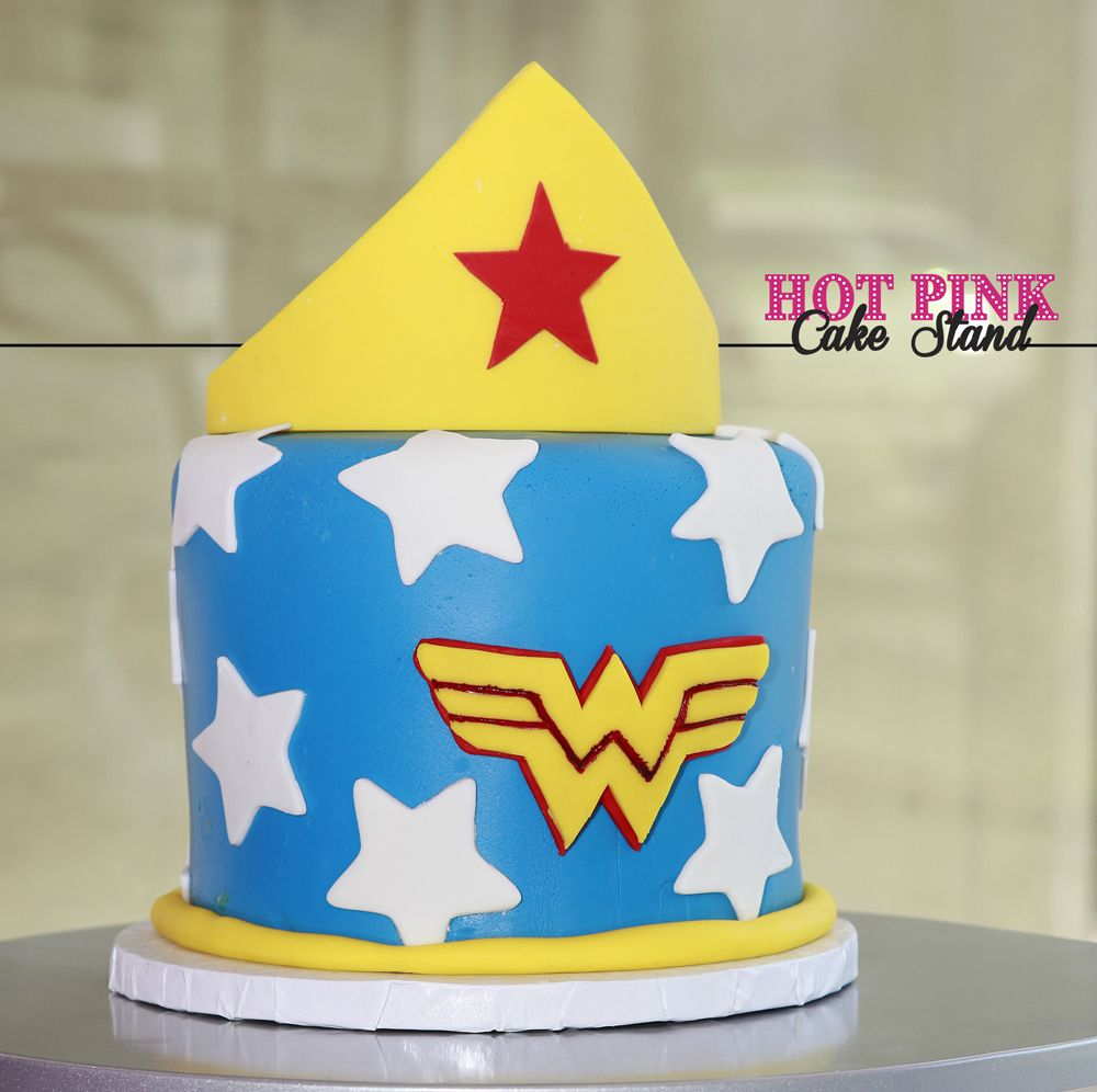 Magnificent Wonder Woman Birthday Cake Made By Hot Pink Cake Stand In Birthday Cards Printable Opercafe Filternl