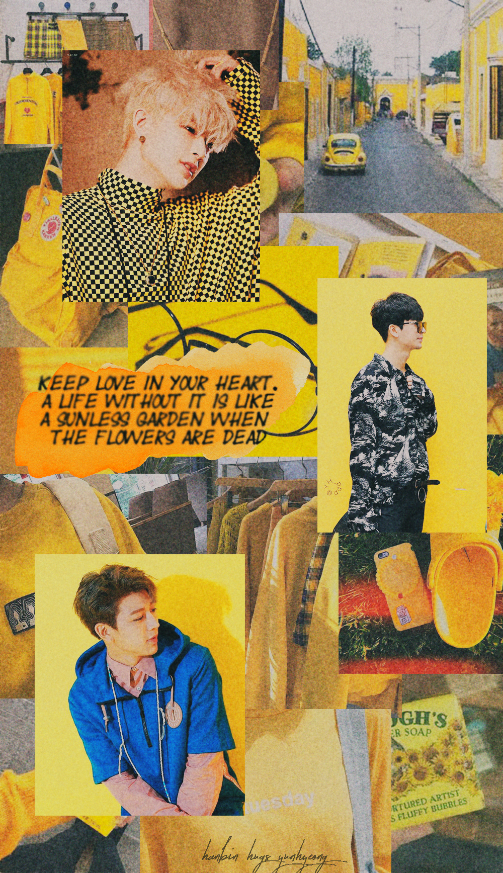Ikon Yunhyeong Kpop Wallpapers Yellow Aesthetic Di 2019