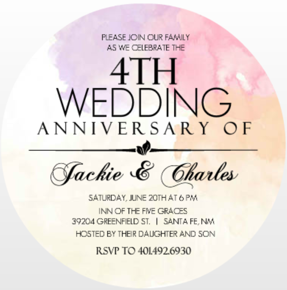 5 year wedding anniversary invitations