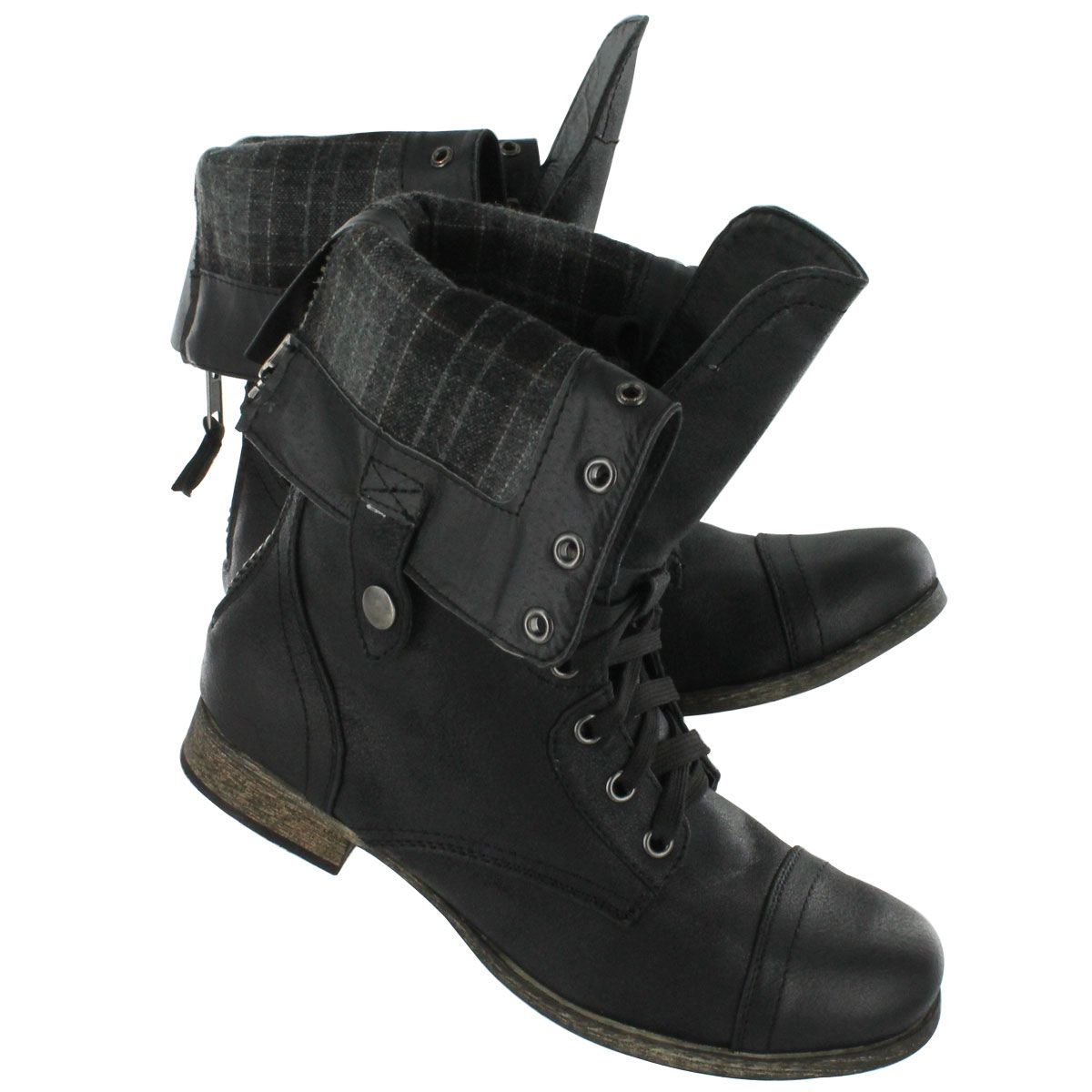 Very Cheap Online Fast Delivery Womens Warme Plattform Combat Boots Bianco Free Shipping Affordable yQeUTMvw