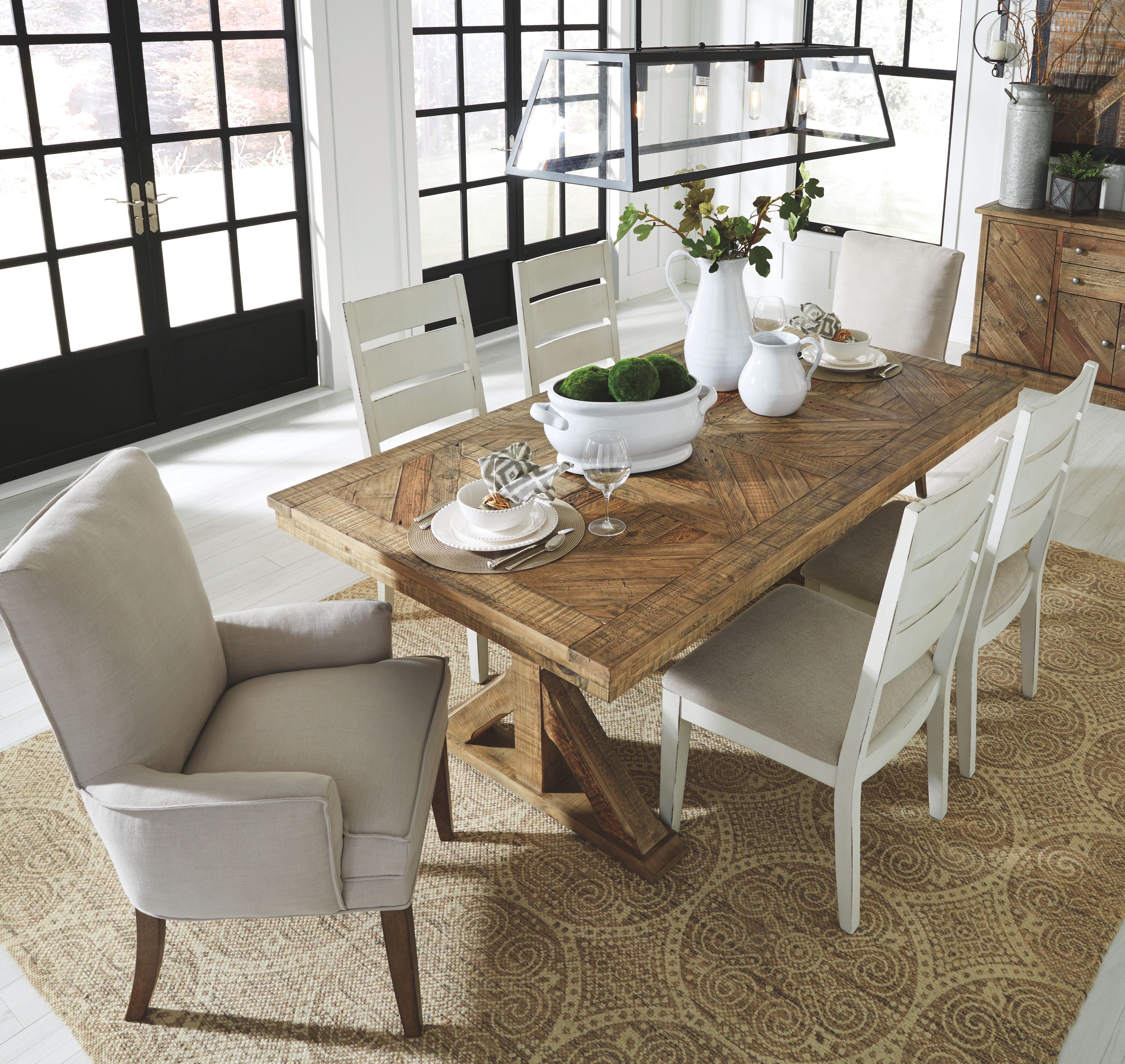 Grindleburg Dining Room Chair (Set of 2), Antique White ...