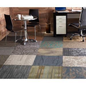 Versatile Assorted Commercial Loop 18 In X 18 In Carpet Tile 10 Tiles Case Ncvt1818 The Home Depot Carpet Tiles Carpet Tiles Office Carpet Tiles Cheap