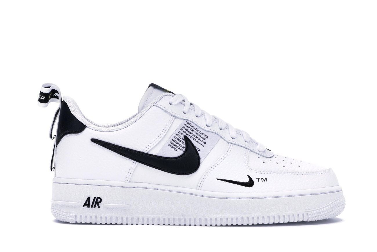 Nike Force 1 Low Utility White Black | Nike air force ones