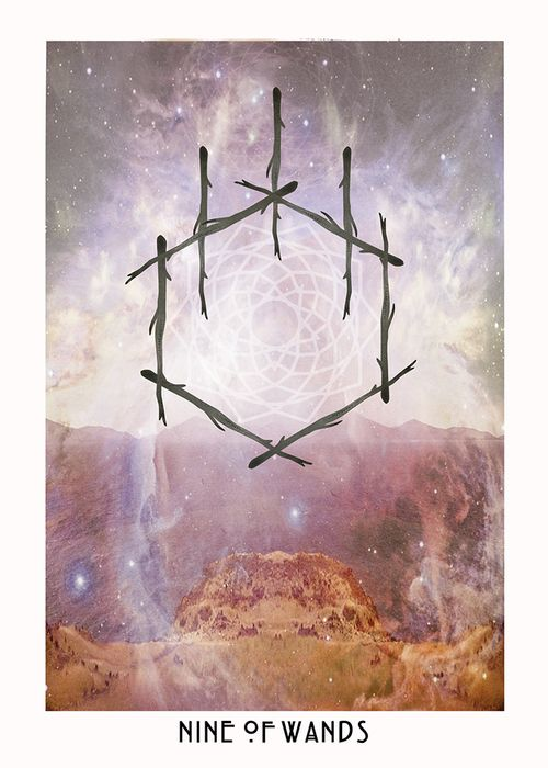 ✨Nine of Wands from the Starchild Tarot