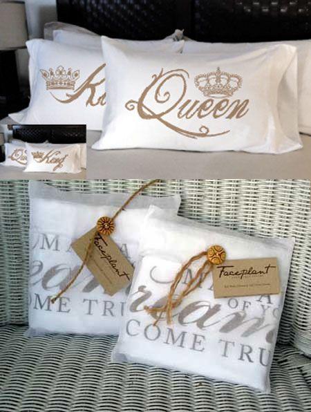 King n Queen pillowcases
