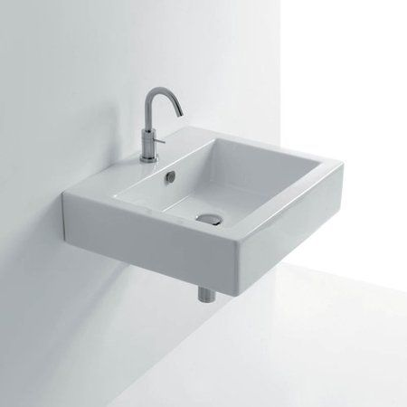 WS Bath Collections Quad Ceramic Ceramic Rectangular Vessel Bathroom