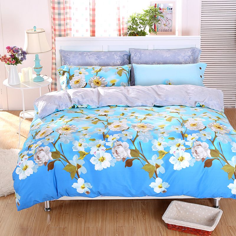 Country Style Cherry Blossom Daisy Bird Plaid Bedding Sets