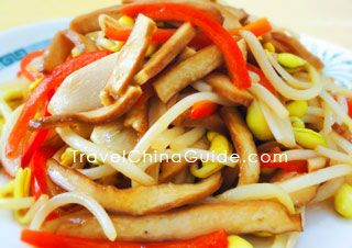Stir-fried Bean Sprouts with Dried Tofu