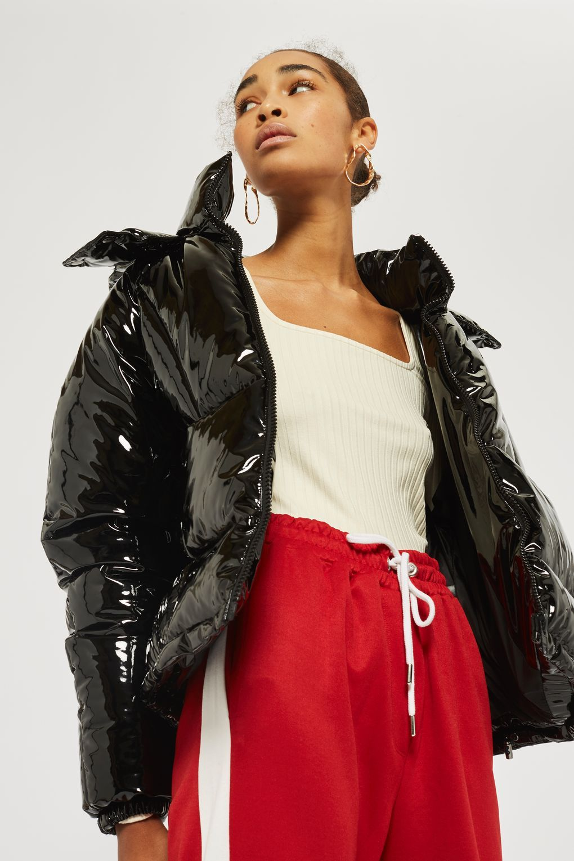 b014e455175 Vinyl Hooded Puffer Jacket. Vinyl Hooded Puffer Jacket Winter Jackets, Puffer  Jackets, Down Puffer Coat, Warm Coat