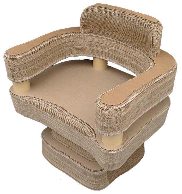 Meubles en carton utilisation du carton pinterest - Meuble en carton tuto ...