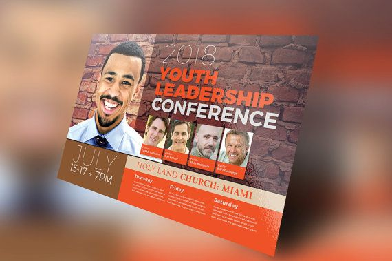 Youth Conference Flyer Template by SeraphimCollective on Etsy - conference flyer template