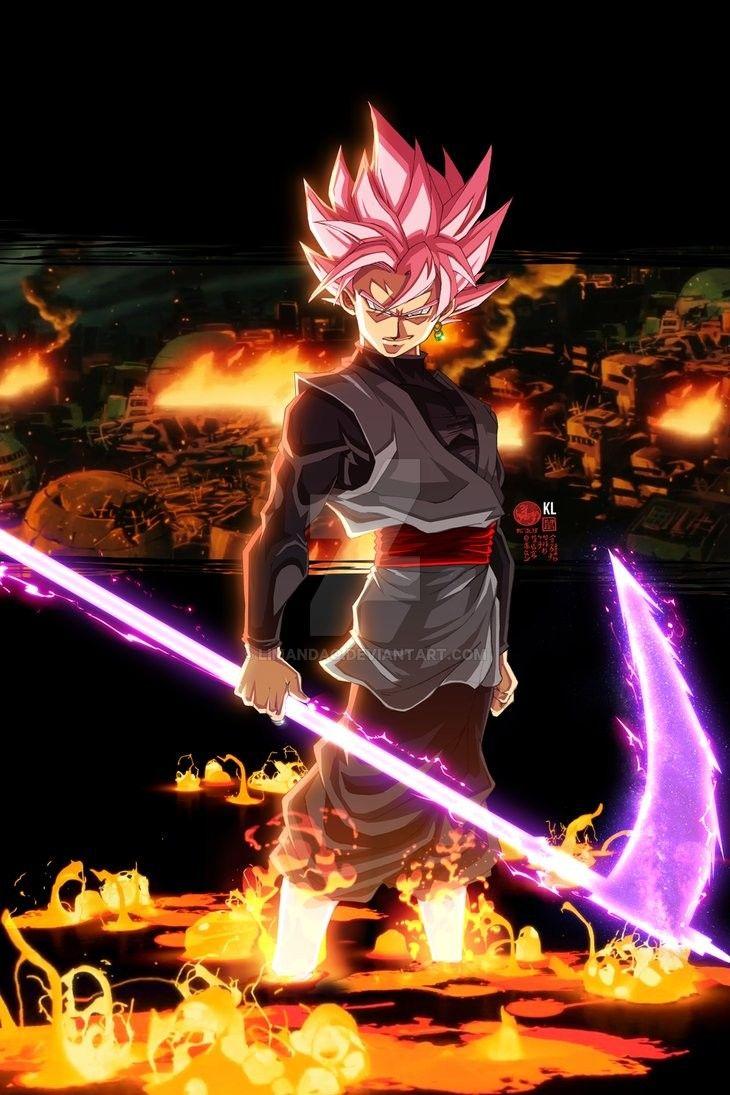 Ssr Goku Black And His Energy Scythe Goku Black Dragon Ball Super Manga Anime Dragon Ball Super