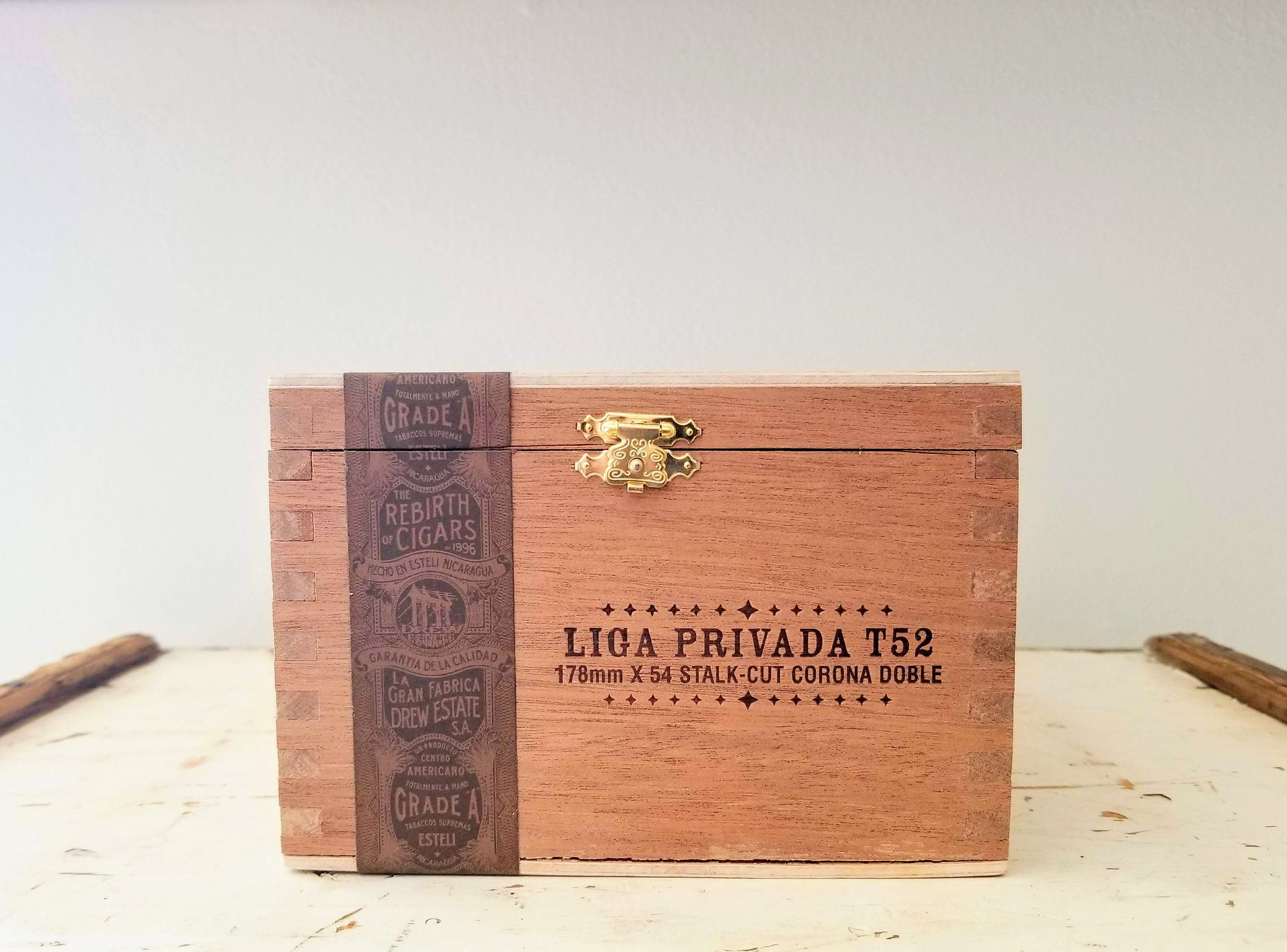 Liga Privada Cigar Box Empty Cigar Box Guitar Wood Box Groomsmen