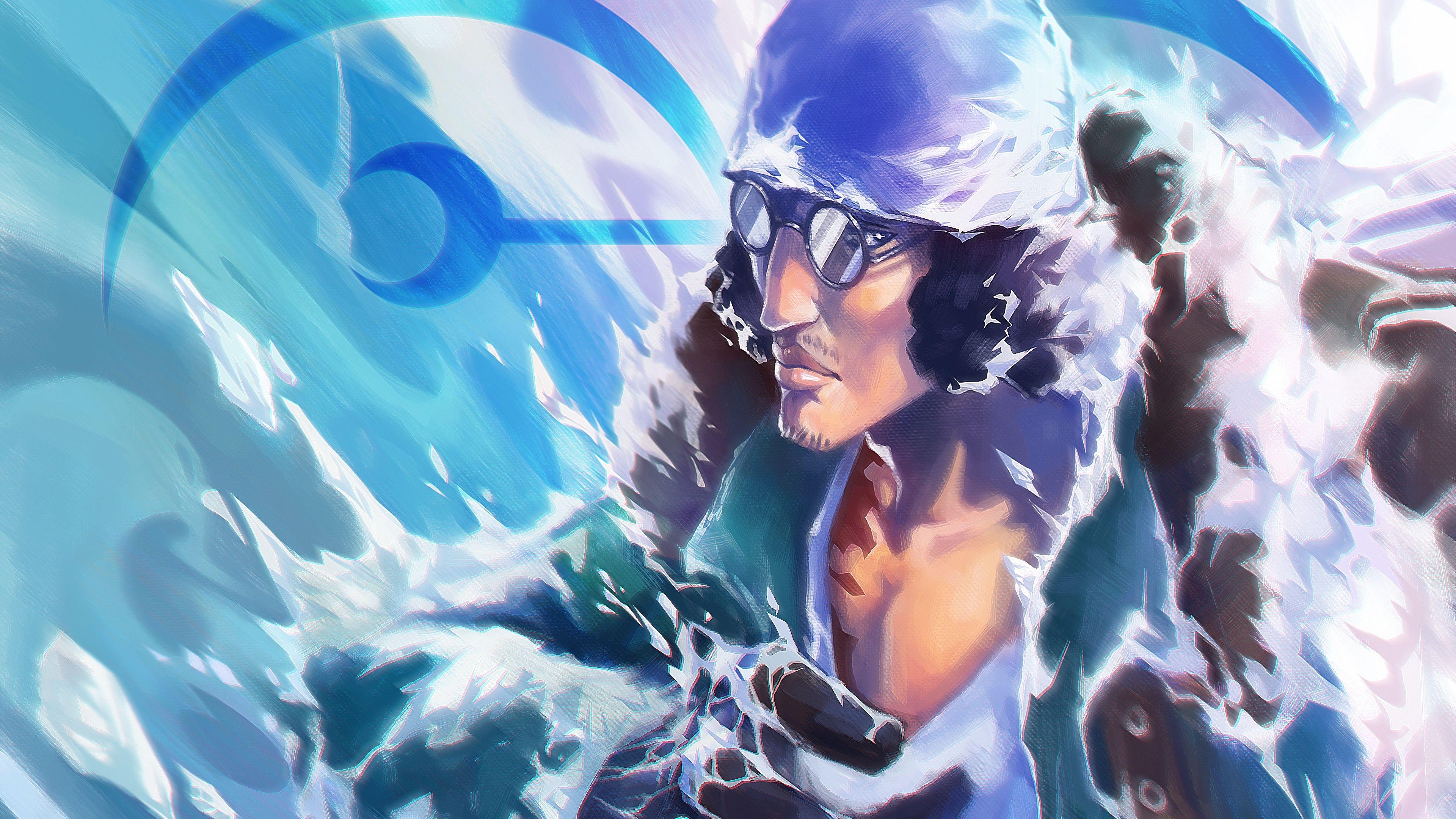Kuzan One Piece Anime 4k One Piece Wallpapers Hd Wallpapers Anime Wallpapers 4k Wallpapers Wallpaper Anime Wolf Art
