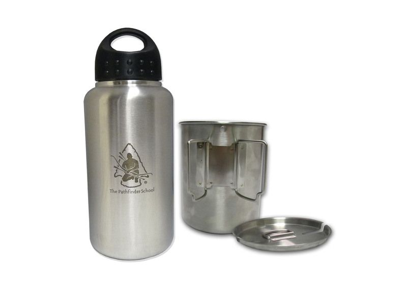 XXXX. 2 bottles, one cup. == GEN3 Pathfinder Stainless Steel 32 oz. Bottle & Nesting Cup Set